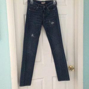 Uniqlo Slim Fit Distressed Jeans Size 24